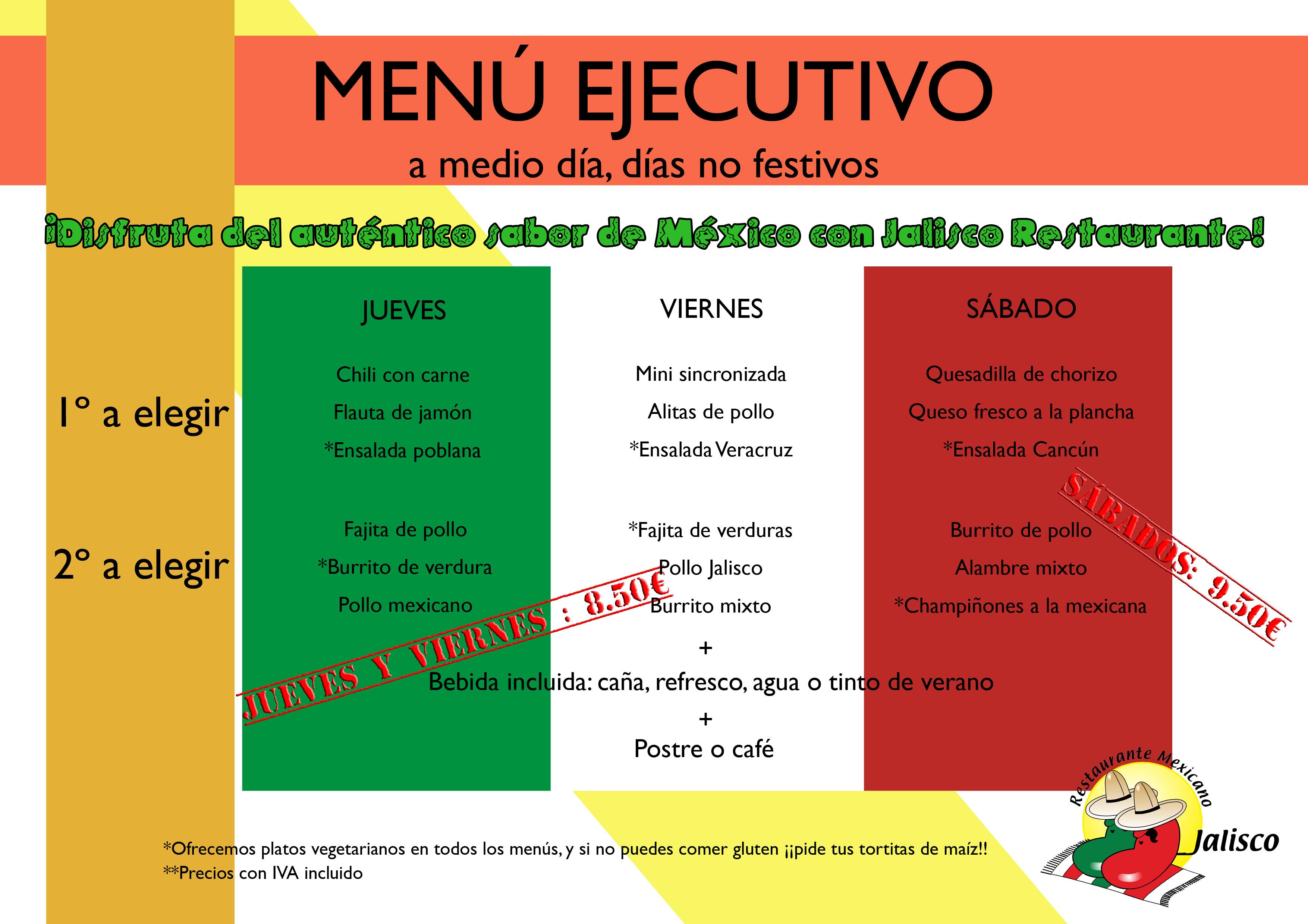 A la hora de comer, Menú Ejecuto! | El Blog del Jalisco